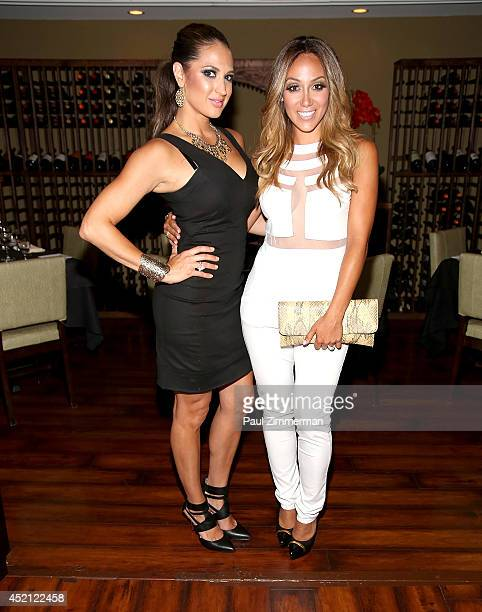 "Amber Marchese and Melissa Gorga attend the ""Real Housewives Of New Jersey"" Season Six Premiere Party on July 13, 2014 in Parsippany, New Jersey."