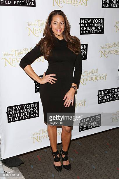 Amber Marchese attends Disneys 'Tinker Bell and the Legend of the NeverBeast' NYICFF Special Screening at SVA Theatre on February 28, 2015 in New...