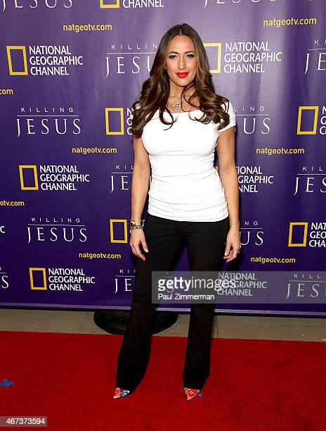 Amber Marchese attends the red carpet event and world premiere of National Geographic Channel's 'Killing Jesus' at Alice Tully Hall on March 23, 2015...