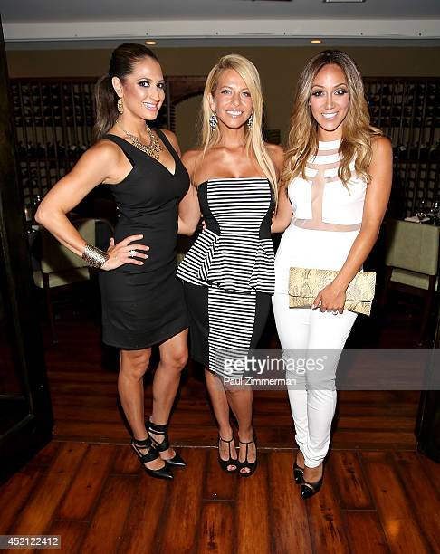"Amber Marchese, Dina Manzo and Melissa Gorga attend the ""Real Housewives Of New Jersey"" Season Six Premiere Party on July 13, 2014 in Parsippany, New..."