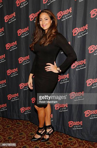 Amber Marchese visits Buca di Beppo Times Sqaure on February 28, 2015 in New York City.