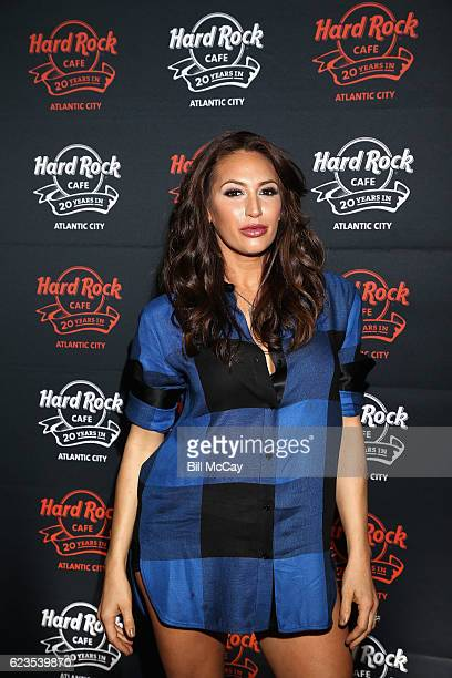 Amber Marchese walks the red carpet during Hard Rock Cafe's 20th Anniversary bash on Tuesday, November 15 in Atlantic City, NJ. The event celebrates...