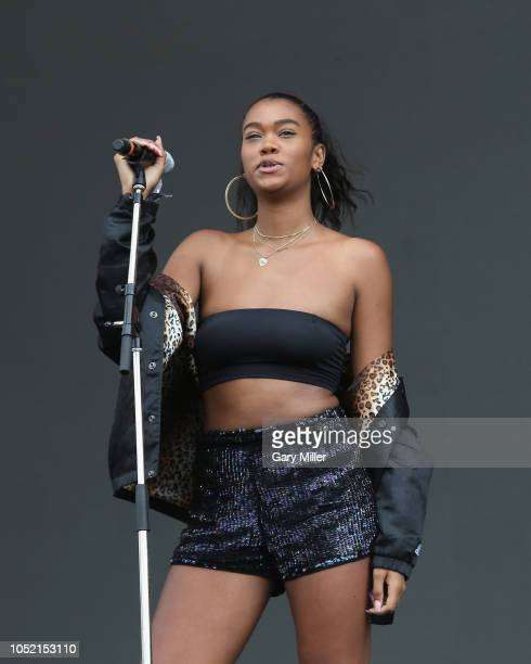 AUSTIN TX October 14 Amber Mark performs in concert on the final day of ACL Music Festival at Zilker Park on October 14 2018 in Austin Texas