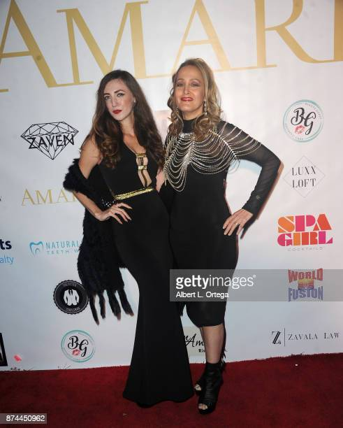 Amber Martinez and Cali Rossen attend Amare Magazine Presents A Black Tie Event featuring cover model Mike O'Hearn held at Hangar 21 on November 14...