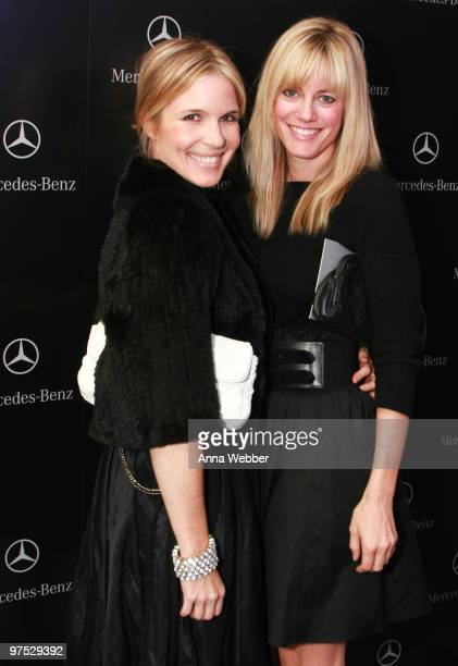 Amber Mead and Amy Carl arrive at Soho House on March 7 2010 in West Hollywood California