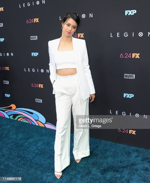 Amber Midthunder arrives for the LA Premiere Of FX's Legion Season 3 held at ArcLight Hollywood on June 13 2019 in Hollywood California