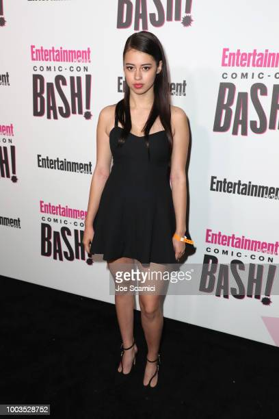 Amber Midthunder attends Entertainment Weekly's ComicCon Bash held at FLOAT Hard Rock Hotel San Diego on July 21 2018 in San Diego California...
