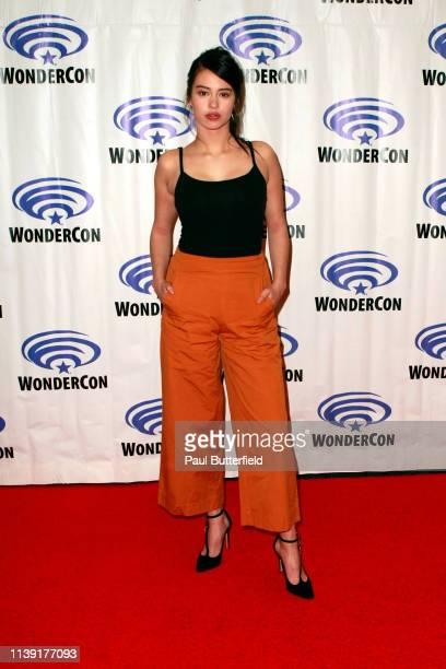 Amber Midthunder attends the Legionîˆ press line during WonderCon 2019 at Anaheim Convention Center on March 29 2019 in Anaheim California