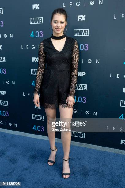 Amber Midthunder attends the 'Legion' Season 2 Premiere at DGA Theater on April 2 2018 in Los Angeles California