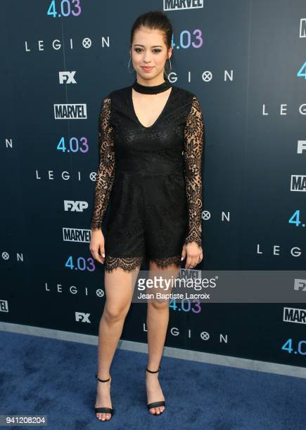Amber Midthunder attends the premiere of FX's 'Legion' Season 2 at DGA Theater on April 2 2018 in Los Angeles California