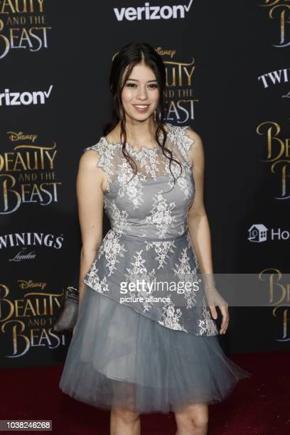 Amber Midthunder attends the World Premiere of Disney's 'Beauty And The Beast' at El Capitan Theatre in Los Angeles USA on 02 March 2017 Photo Hubert...