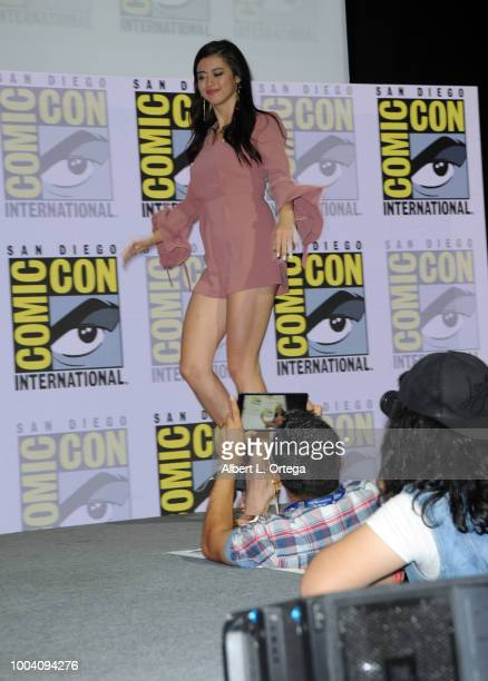 Amber Midthunder walks onstage at the Legion discussion and QA during ComicCon International 2018 at San Diego Convention Center on July 22 2018 in...