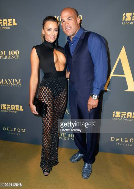 Amber Miller and Tito Ortiz attend The 2018 Maxim Hot 100 Party at Hollywood Palladium on July 21 2018 in Los Angeles California