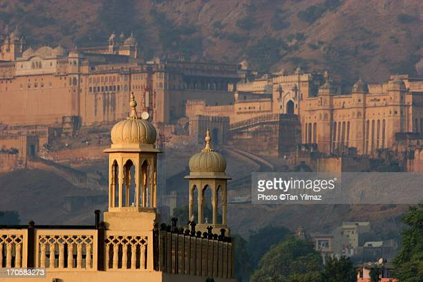 amber morning - amber fort stock pictures, royalty-free photos & images