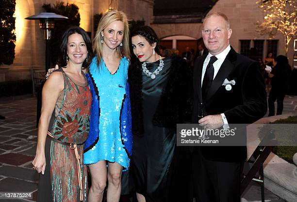 Amber Mullens Lindsay Berger Sacks Lauri Firstenberg and Chistopher Mullens attend LAXART Ball OF Artists Event at Greystone Mansion on January 28...