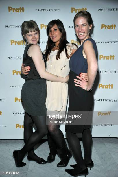 Amber Myers Kate Unver and Ashley Berger attend 2010 PRATT Institute Honors Catherine Malandrino After Party at Highline Ball Room on May 13 2010 in...