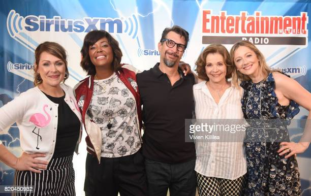 Amber Nash Aisha Tyler Lucky Yates Jessica Walter and Judy Greer attend SiriusXM's Entertainment Weekly Radio Channel Broadcasts From Comic Con 2017...
