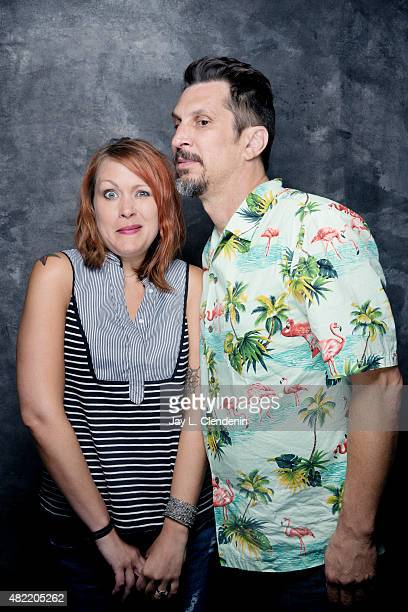 Amber Nash and Lucky Yates of 'Archer' pose for a portrait at ComicCon International 2015 for Los Angeles Times on July 9 2015 in San Diego...