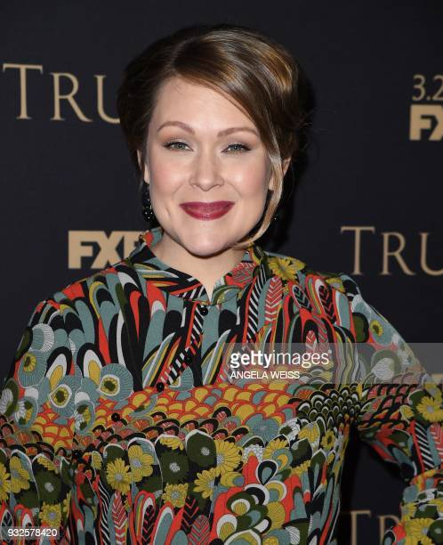 Amber Nash attends the 2018 FX Annual AllStar Party at SVA Theatre on March 15 2018 in New York City / AFP PHOTO / ANGELA WEISS