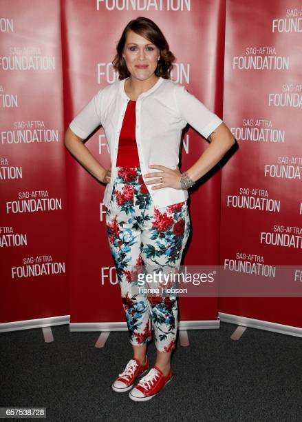 Amber Nash attends the SAGAFTRA Foundation's Conversations for 'Archer' at SAGAFTRA Foundation Screening Room on March 24 2017 in Los Angeles...