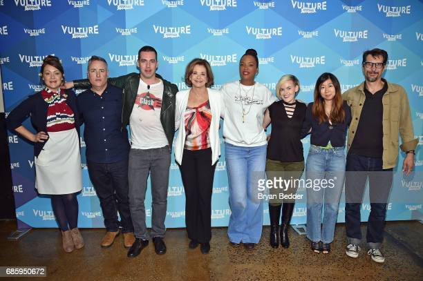 Amber Nash Larry Murphy John Roberts Jessica Walter Aisha Tyler Kari Wahlgren Niki Yang and Lucky Yates attend Saturday Morning Cartoons in the ATT...