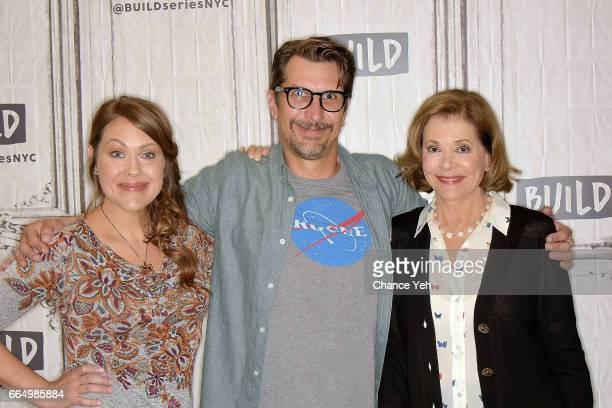 Amber Nash Lucky Yates and Jessica Walter attend Build series to discuss 'Archer' at Build Studio on April 5 2017 in New York City
