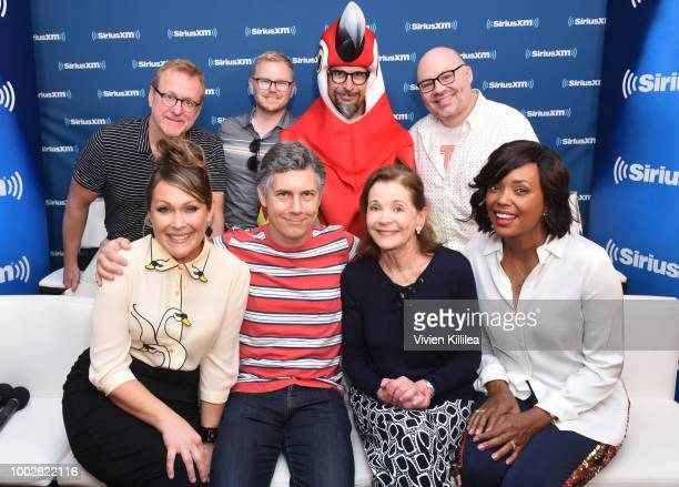 Amber Nash Matt Thompson Chad Hurd Chris Parnell Lucky Yates Jessica Walter Casey Willis and Aisha Tyler attend SiriusXM's Entertainment Weekly Radio...