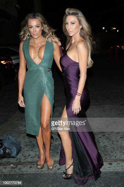 Amber Nichole Miller and Jamie Villamor are seen on July 19 2018 in Los Angeles CA