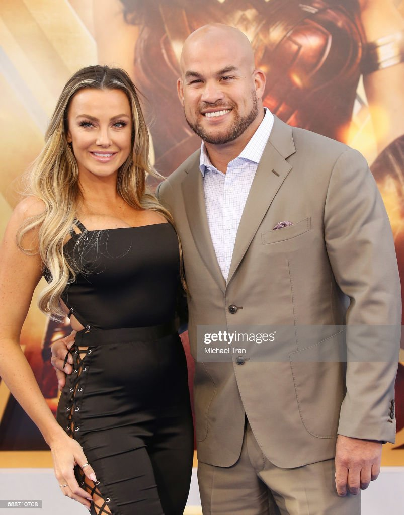 Amber Nichole Miller and Tito Ortiz arrive at the Los Angeles premiere of Warner Bros. Pictures' 'Wonder Woman' held at the Pantages Theatre on May 25, 2017 in Hollywood, California.