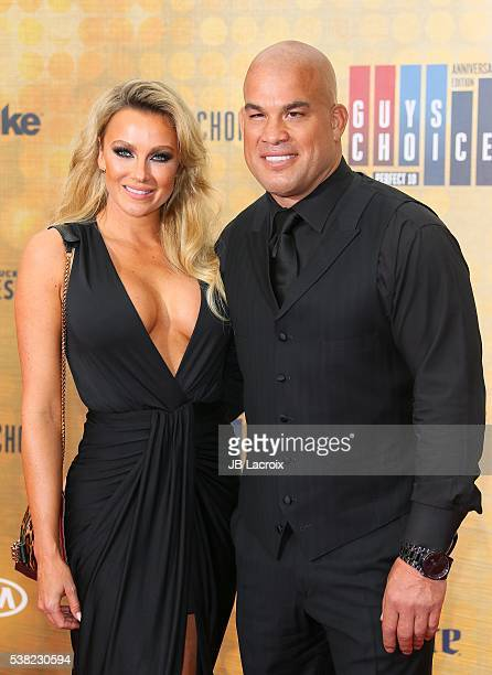Amber Nichole Miller and Tito Ortiz attend Spike TV's 'Guys Choice 2016' at Sony Pictures Studios on June 4 2016 in Culver City California