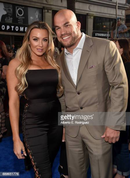 Amber Nichole Miller and Tito Ortiz attend the premiere of Warner Bros Pictures' Wonder Woman at the Pantages Theatre on May 25 2017 in Hollywood...