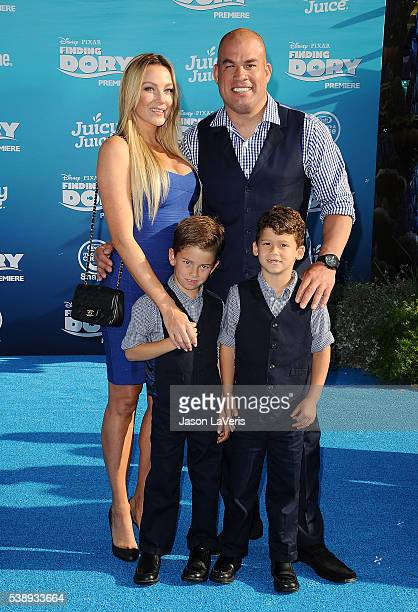 Amber Nichole Miller Tito Ortiz and children attend the premiere of Finding Dory at the El Capitan Theatre on June 8 2016 in Hollywood California
