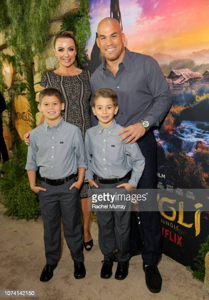 Amber Nichole Miller Tito Ortiz Journey Ortiz and Jesse Ortiz attend the Los Angeles Special Screening of 'Mowgli Legend of the Jungle' at ArcLight...