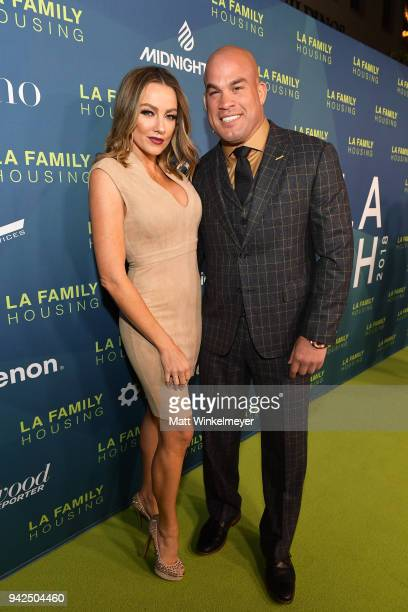 Amber Nicole Miller and Tito Ortiz attend the 2018 LA Family Housing Awards at The Lot in West Hollywood on April 5 2018 in West Hollywood California