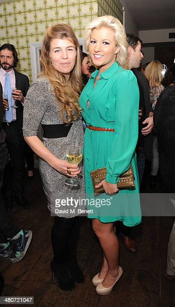 Amber Nutall and Natalie Coyle attend the 'Honestly Healthy For Life' book launch on March 26 2014 in London England