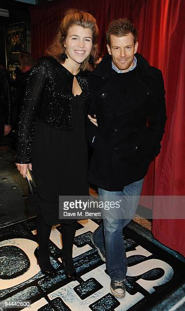 Amber Nuttall and Tom Aikens arrive at the World Premiere of 'Sherlock Holmes' at the Empire Cinema Leicester Square on December 14 2009 in London...