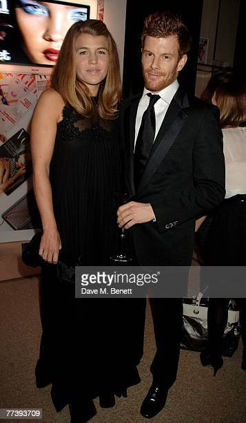 Amber Nuttall and Tom Aikens attend the book launch of 'Vogue Covers' at Chanel Brompton Road on October 17 2007 in London England