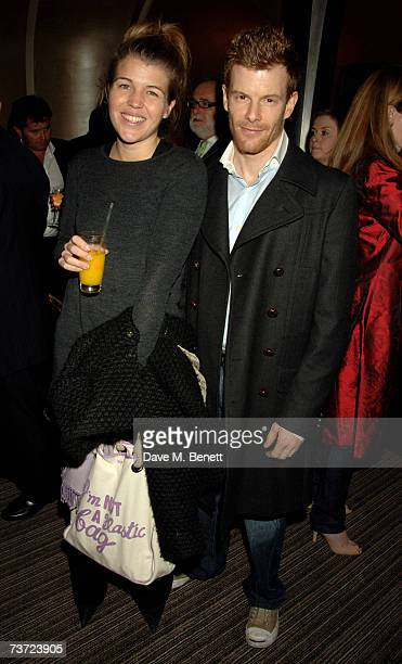 Amber Nuttall and Tom Aikens attend the launch party of the Berkeley Square Ball at Nobu on March 27 2007 in London England