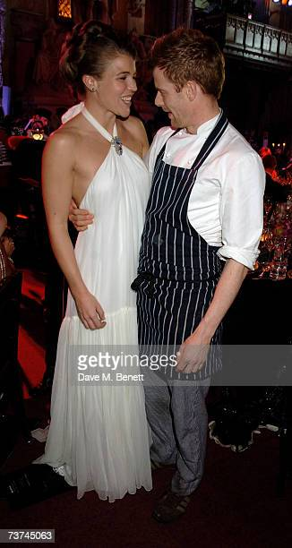 Amber Nuttall and Tom Aikens attend the Quintessentially Diner des Tsars gala evening in aid of UNICEF at the Guildhall on March 29 2007 in London...