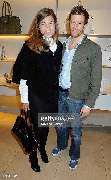 Amber Nuttall and Tom Aikens attend the Salvatore Ferragamo party to unveil a new book and celebrate the mastery of Italian cuisine at the Ferragamo...