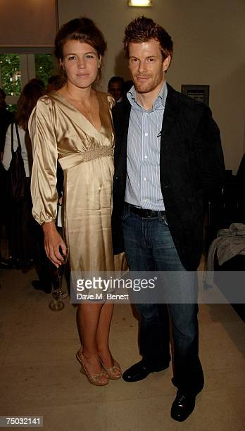 Amber Nuttall and Tom Aikens attend the TAG Heuer VIP party at Hempel Hotel on July 4 2007 in London England