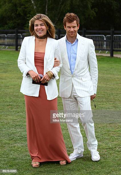 Amber Nuttall and Tom Aikens attends the Cartier International Polo Day at Guards Polo Club on July 26 2009 in Egham England