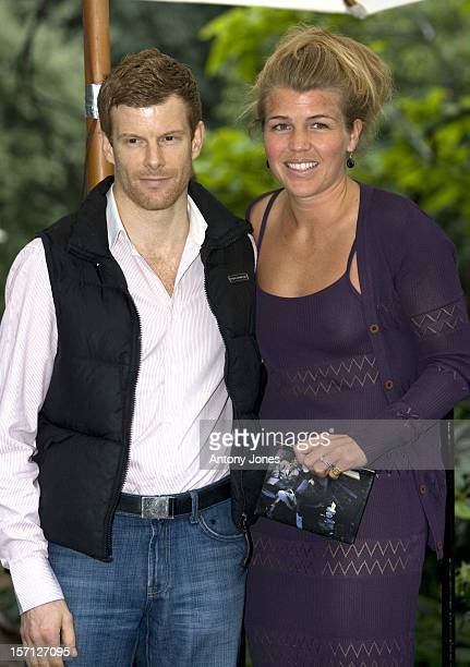 Amber Nuttall Chef Tom Aikens Arrive At Sir David Frost'S Summer Garden Party In Carlyle Square West London