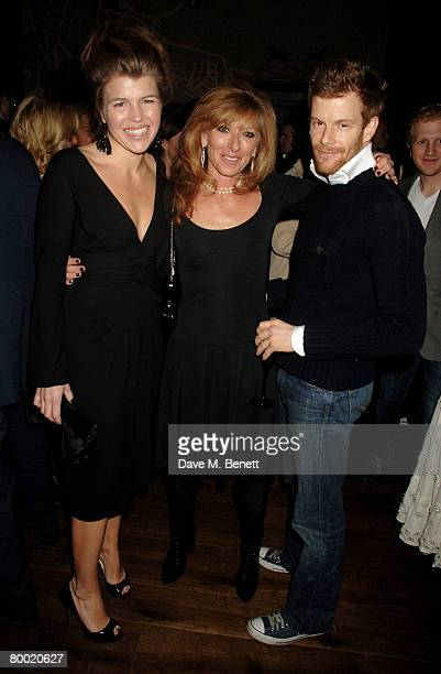 Amber Nuttall Kelly Hoppen and Tom Aikens attend the launch party of the Dom Perignon OEnotheque 1995 hosted by Dom Perignon and Claudia Schiffer at...