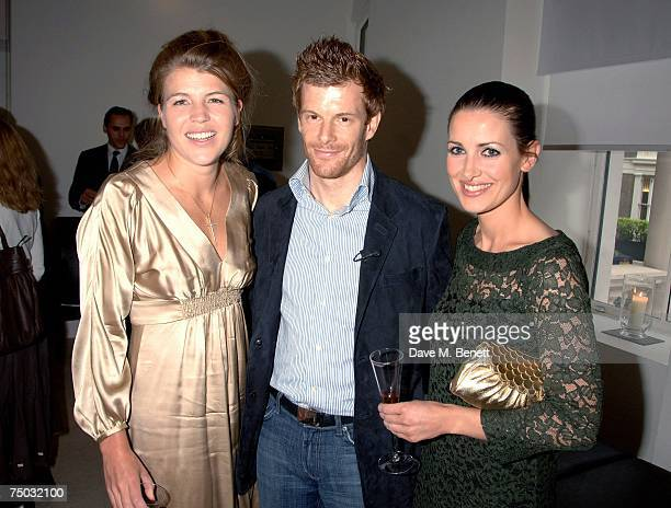 Amber Nuttall Tom Aikens and Kirsty Gallacher attend the TAG Heuer VIP party at Hempel Hotel on July 4 2007 in London England