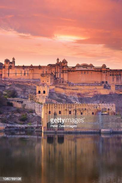 amber or amer fort, located in rajasthan, india - amber fort stock pictures, royalty-free photos & images