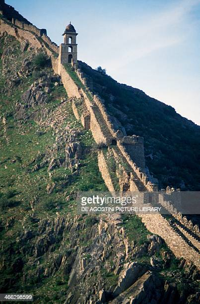 Amber palace fortifications Amber Rajasthan India 16th century