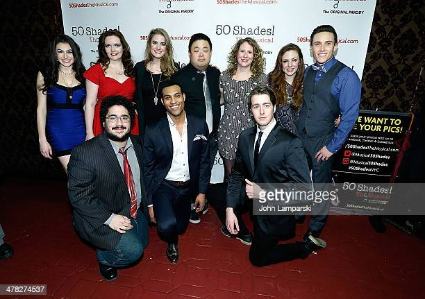 Amber Petty and Chris Grace and the cast of attend at the '50 Shades The Musical' Off Broadway opening night at Elektra Theatre on March 12 2014 in...