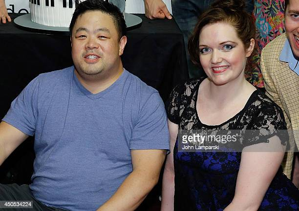Amber Petty and Chris Grace attend '50 Shades The Musical' 100th Performance Celebration at Elektra Theatre on June 12 2014 in New York City