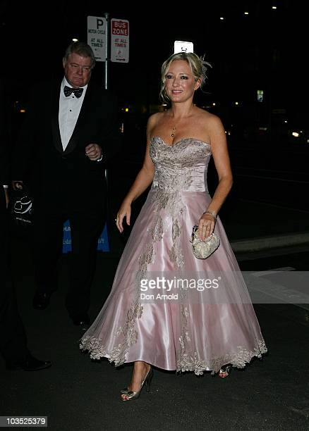 Amber Petty arrives at her 40th birthday celebration attended by her friend and bridesmaid Crown Princess Mary of Denmark at The Promethean on August...